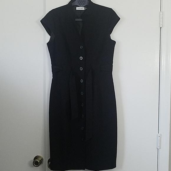 Calvin Klein Dresses & Skirts - Calvin Klein Black Button Front Sheath Dress NWOT